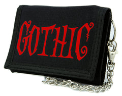"Red ""Gothic"" Horror Tri-fold Wallet Dark Halloween Alternative Clothing"