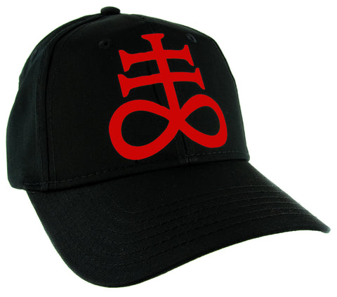 Red Brimestone Leviathan Cross Alchemy Symbol Hat Baseball Cap Occult Alternative Clothing Snapback