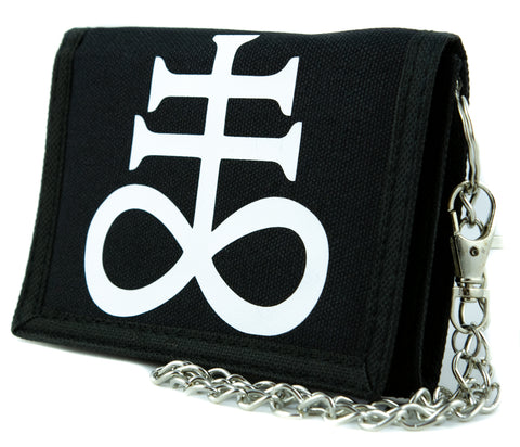 Brimestone Leviathan Cross Alchemy Symbol Tri-fold Wallet Satanic Alternative Clothing