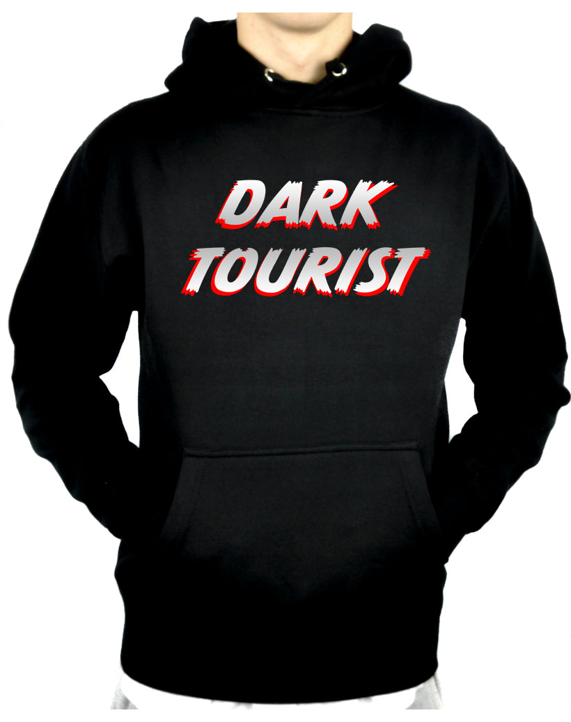 Dark Tourist Pullover Hoodie Sweatshirt Black Death Grief Tourism Alternative Clothing Thanatourism