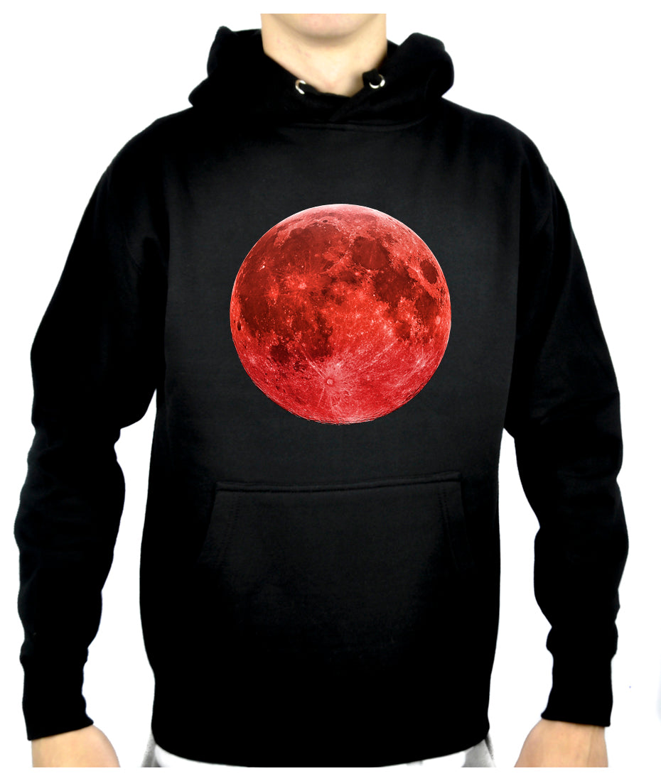 Blood Red Full Moon Pullover Hoodie Sweatshirt Alternative Clothing Astrology …