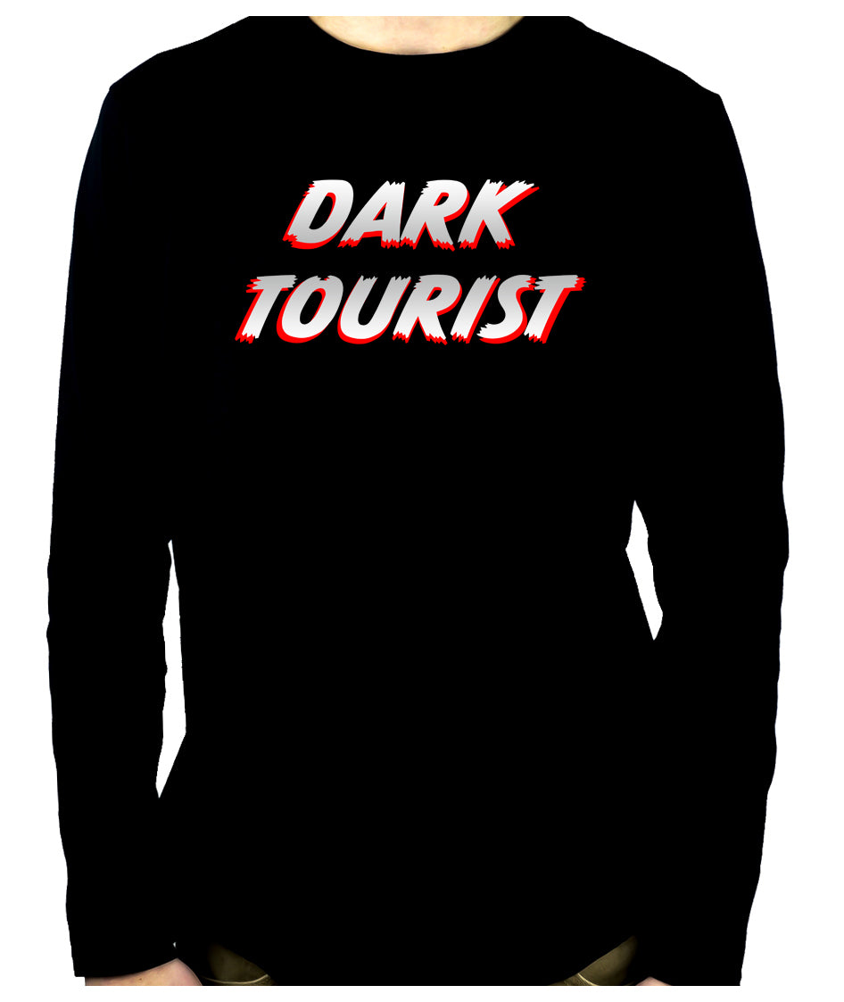 Dark Tourist Long Sleeve Shirt Black Death Grief Tourism Alternative Clothing Thanatourism