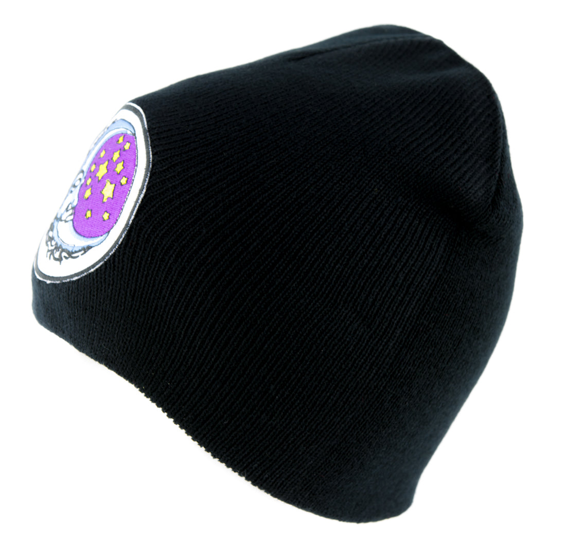 Sleeping Moon and Stars Beanie Knit Cap Alternative Clothing Astrology Fortune Teller