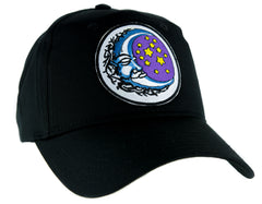 Sleeping Moon and Stars Hat Baseball Cap Alternative Wicca Clothing Astrology