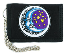 Sleeping Moon and Stars Tri-fold Wallet Alternative Clothing Wiccan