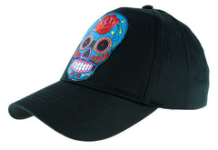Day of the Dead Blue Sugar Skull Hat Baseball Cap Horror Clothing Halloween