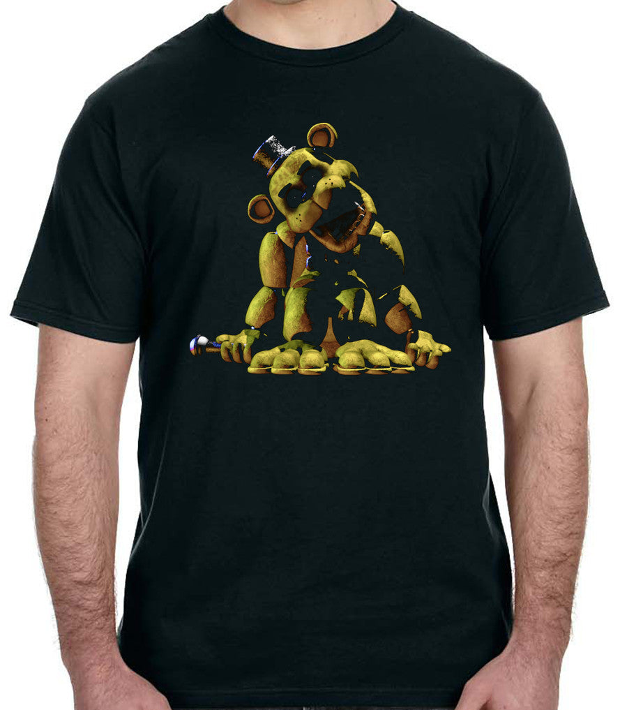 Secret Golden Freddy Shirt Five Nights at Freddy's Yellow Bear Fazbear Pizza