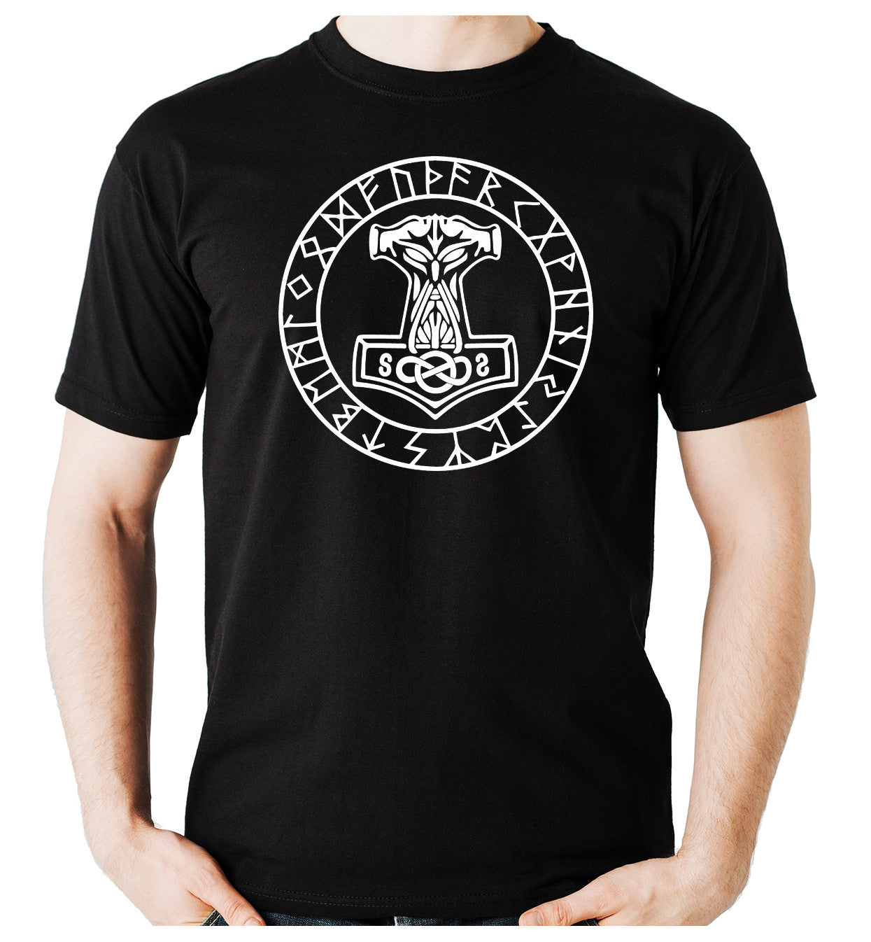 Mjolnir Thor's Mighty Hammer Runes T-Shirt Alternative Clothing Odin Norse God
