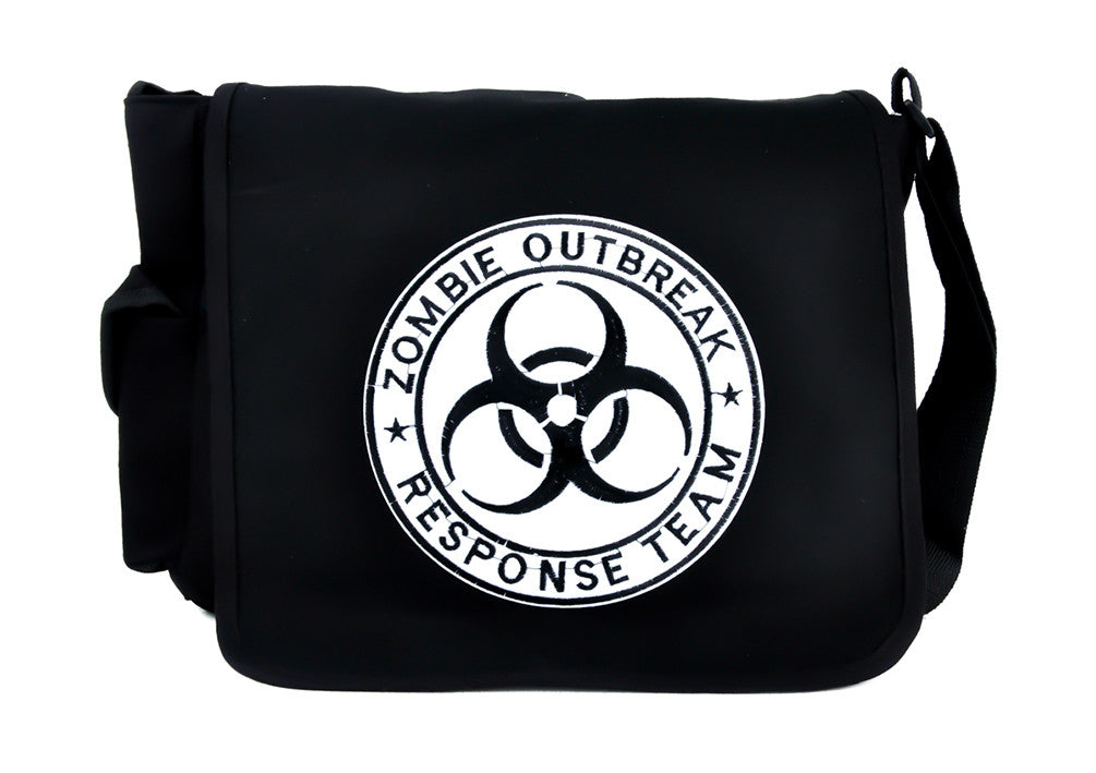 Bio Hazard Zombie Outbreak Response Team Messenger Bag Cross Body Handbag