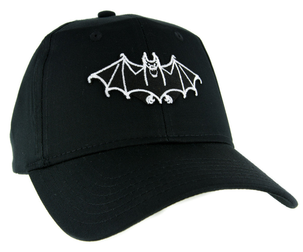 White Vampire Bat Hat Baseball Cap Dark Gothic Alternative Clothing Nosferatu