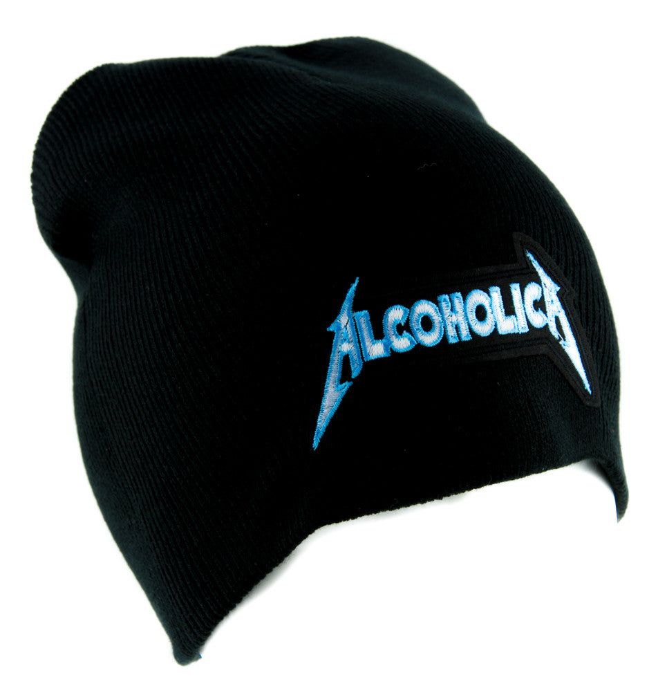 Alcoholica Metallica Spoof Beanie Alternative Clothing Knit Cap Heavy – YDS  Accessories 0133a9c4399f
