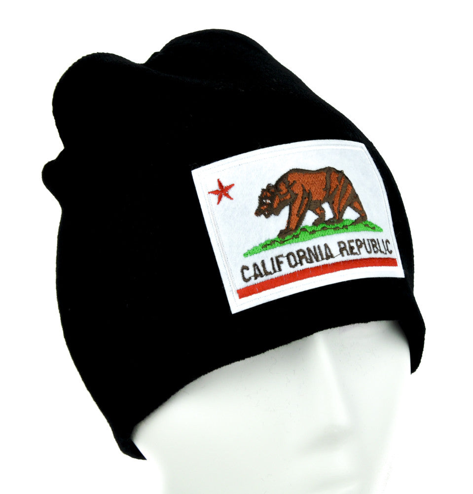 California Republic Flag Beanie Alternative Clothing Knit Cap So Cal Pride