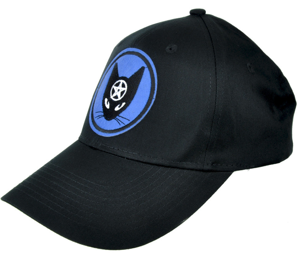 Black Cat Pentagram Hat Baseball Cap Alternative Occult Clothing