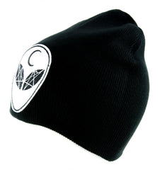 Witchcraft Alien Crescent Moon Beanie Alternative Clothing Knit Cap Astrology