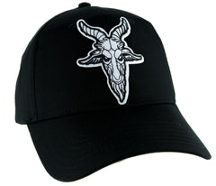 Sabbatic Goat Head Hat Baseball Cap Alternative Clothing Satanic Baphomet
