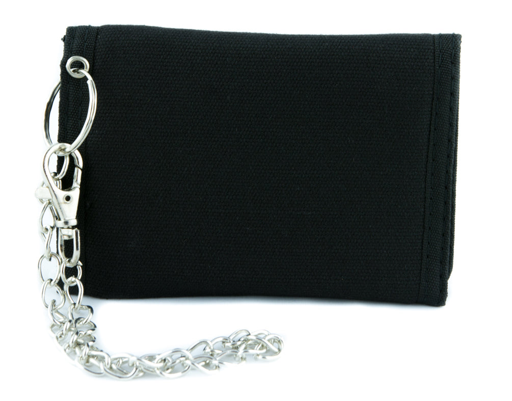 Black Metal Style Inverted Pentagram Tri-fold Wallet Unholy Evil Alternative Clothing