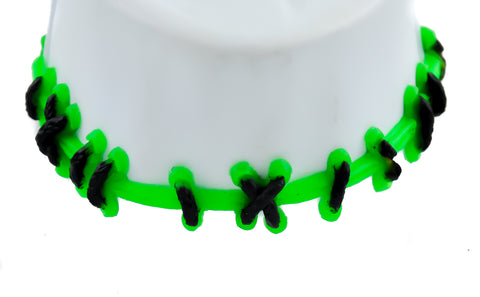 Frankenstein Monster Green Stitch Choker Necklace Halloween Cosplay Special Effects