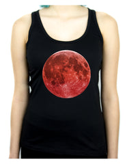 Blood Red Full Moon Racer Back Tank Top Shirt Alternative Clothing Astrology