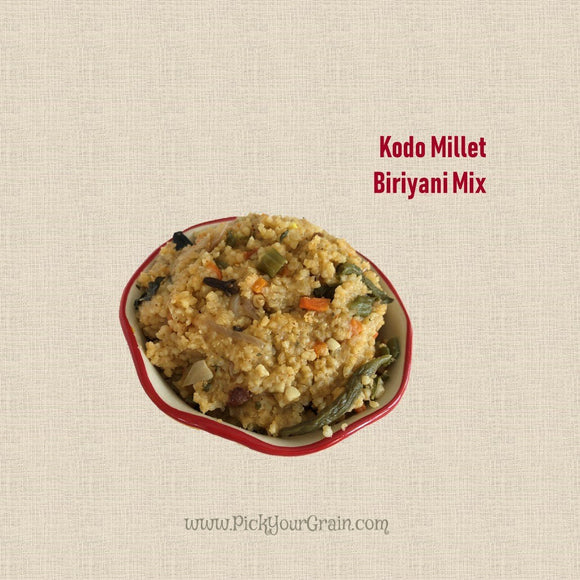Kodo Millet Biriyani Mix Ready to Cook- PickYourGrain