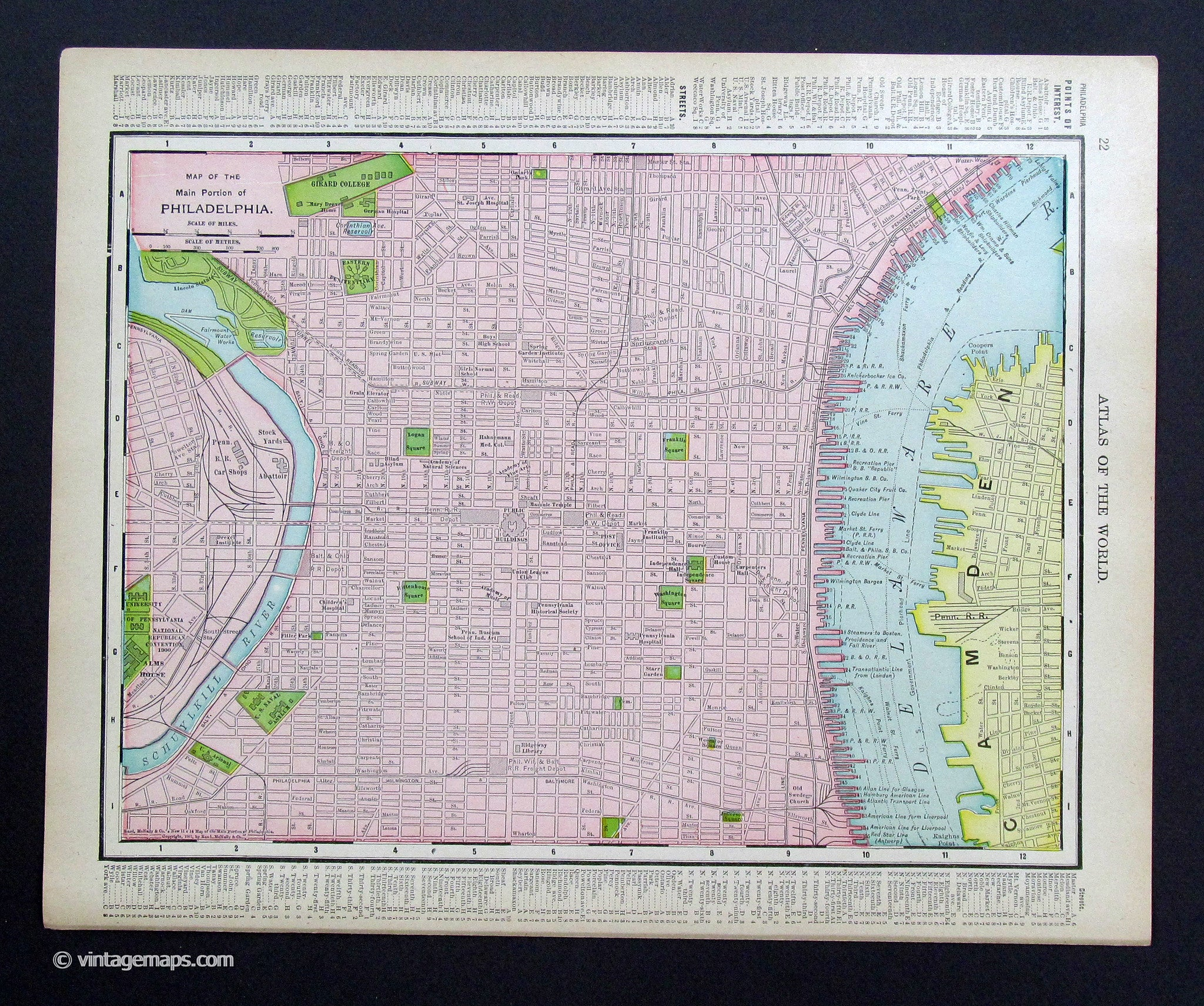 This is a picture of Printable Maps of Philadelphia pertaining to tourist