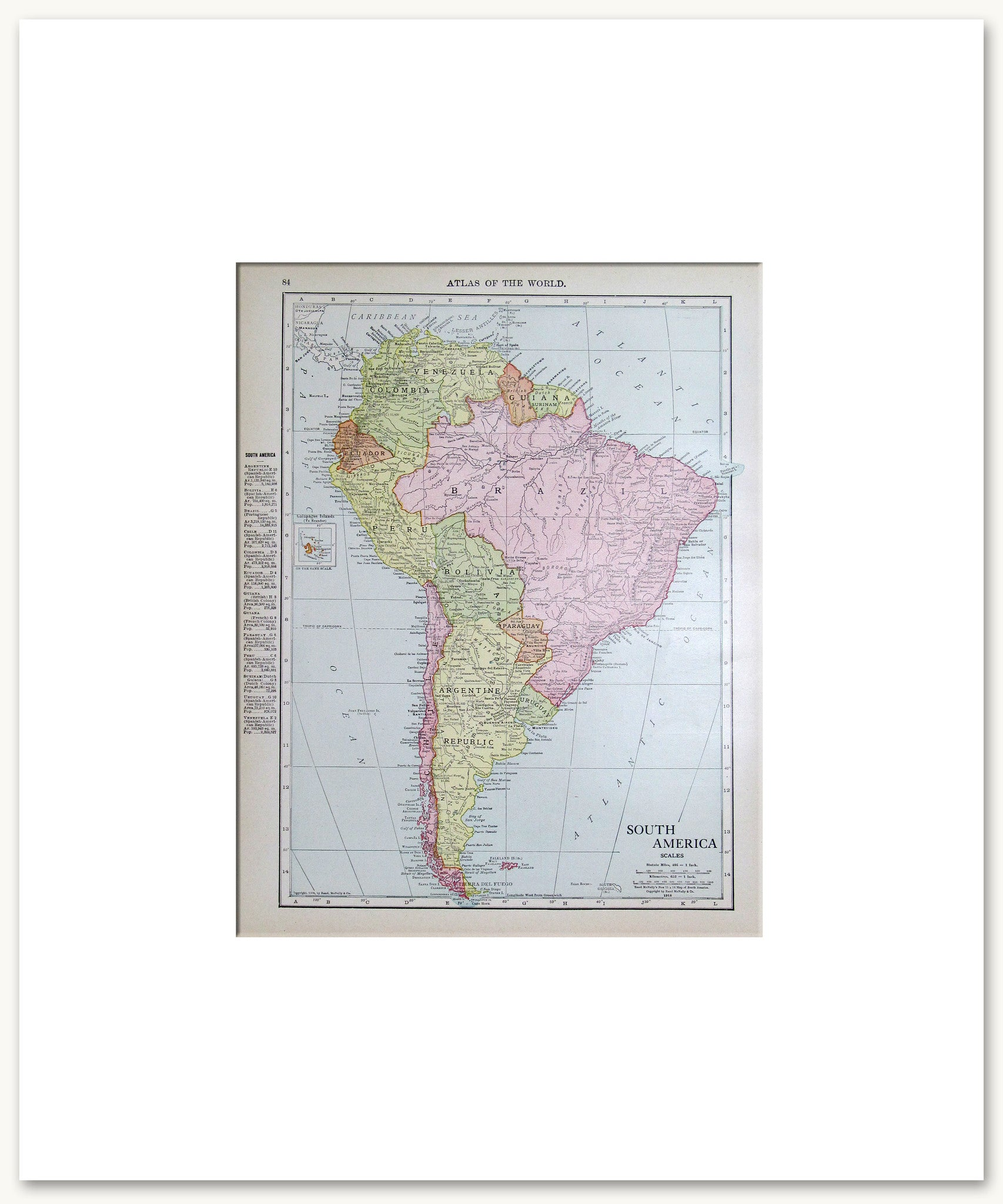 south america u0026 subregions vintage maps