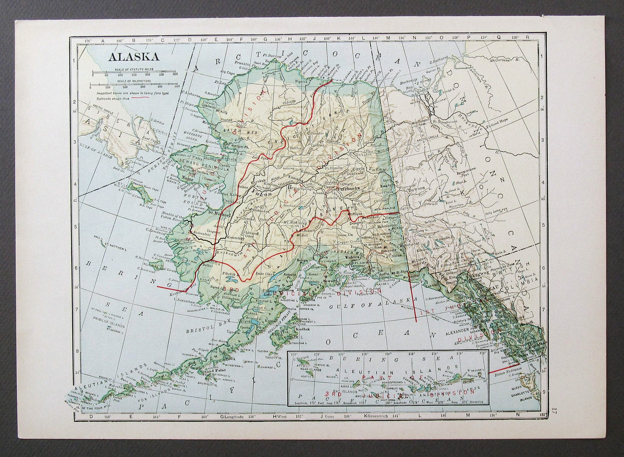 Image of: Alaska Map 1933 Vintage Maps