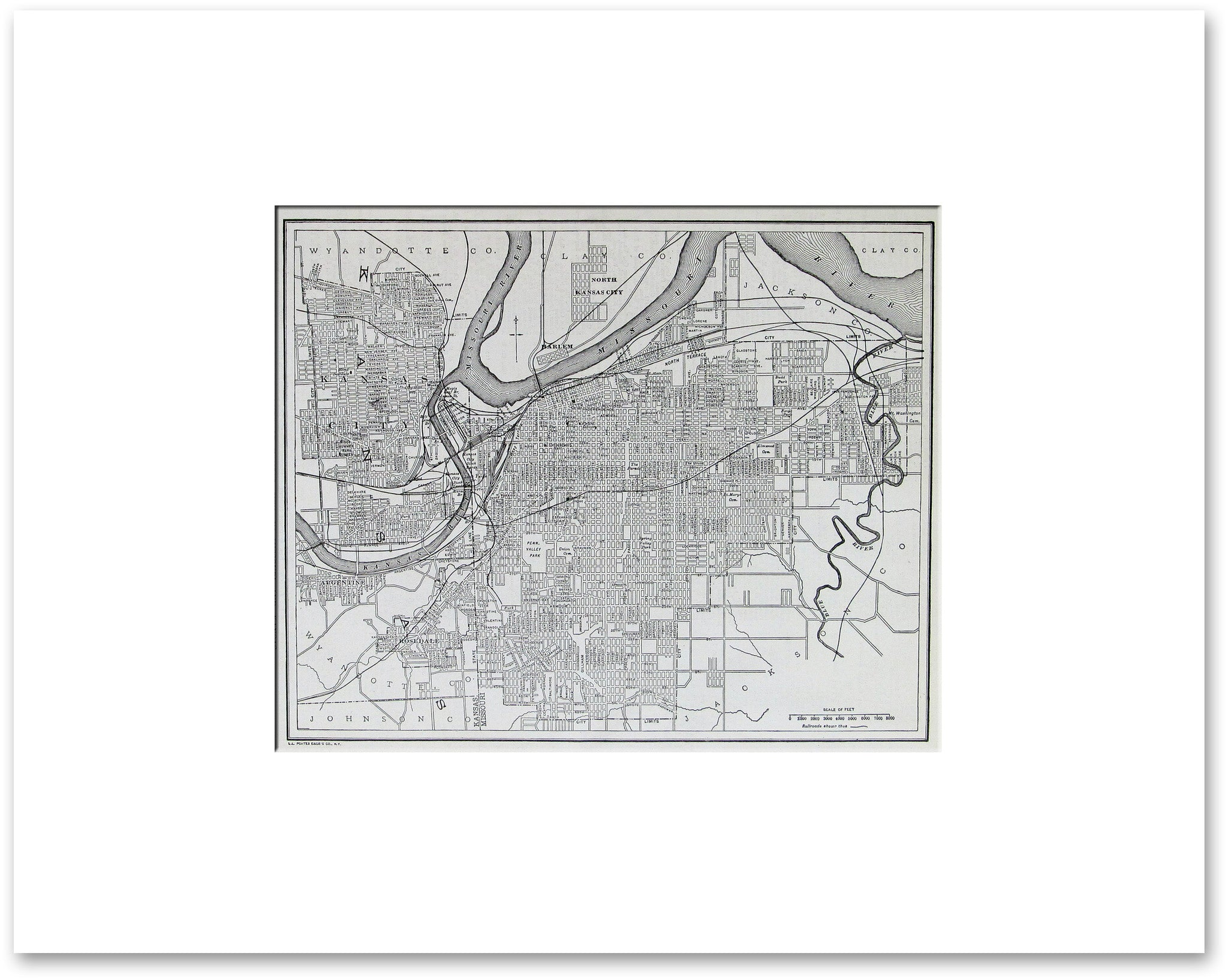 Kansas City 1921 - Vintage Maps