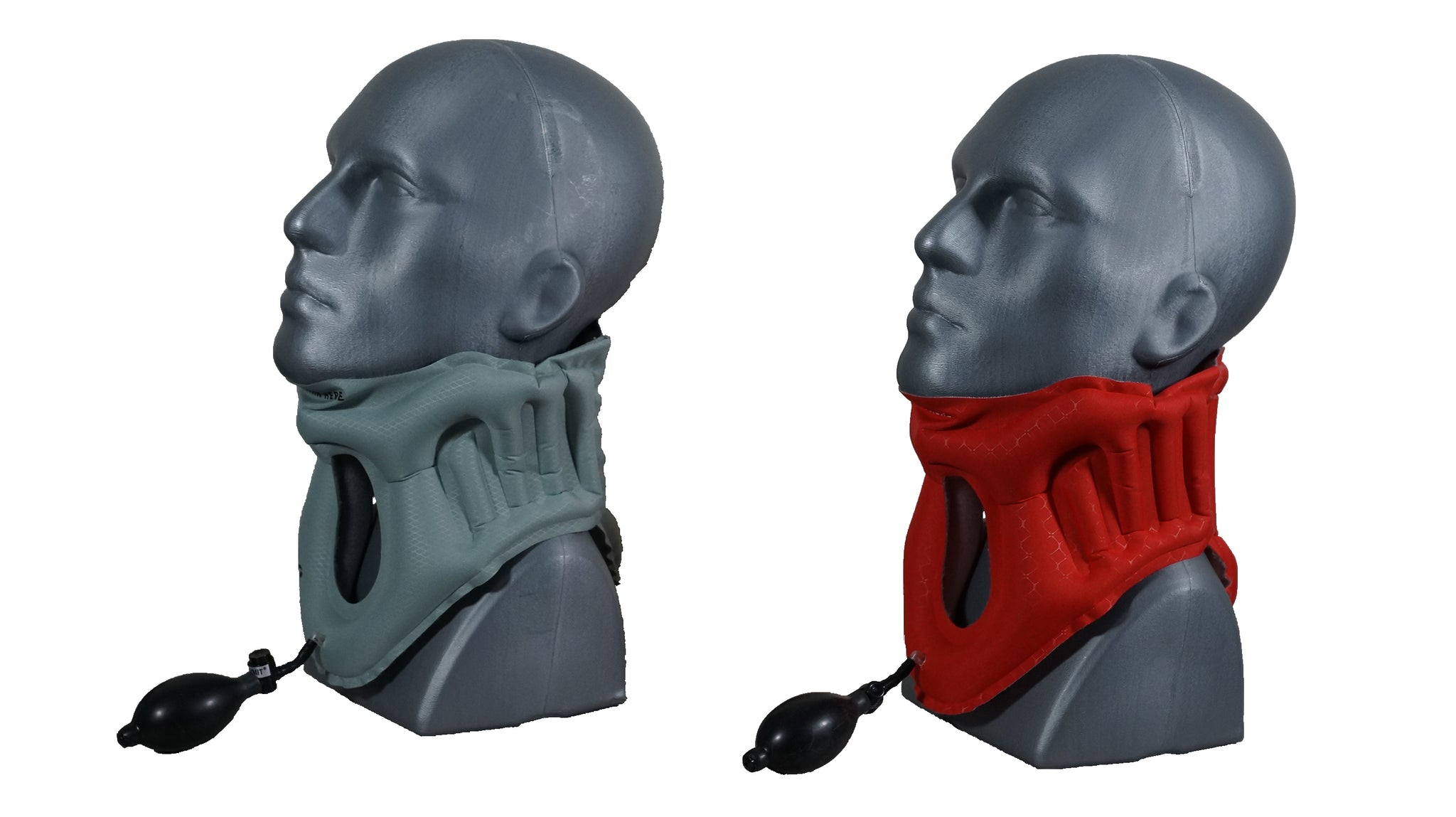 Another Side view of the AER Cervical Collar Inflated