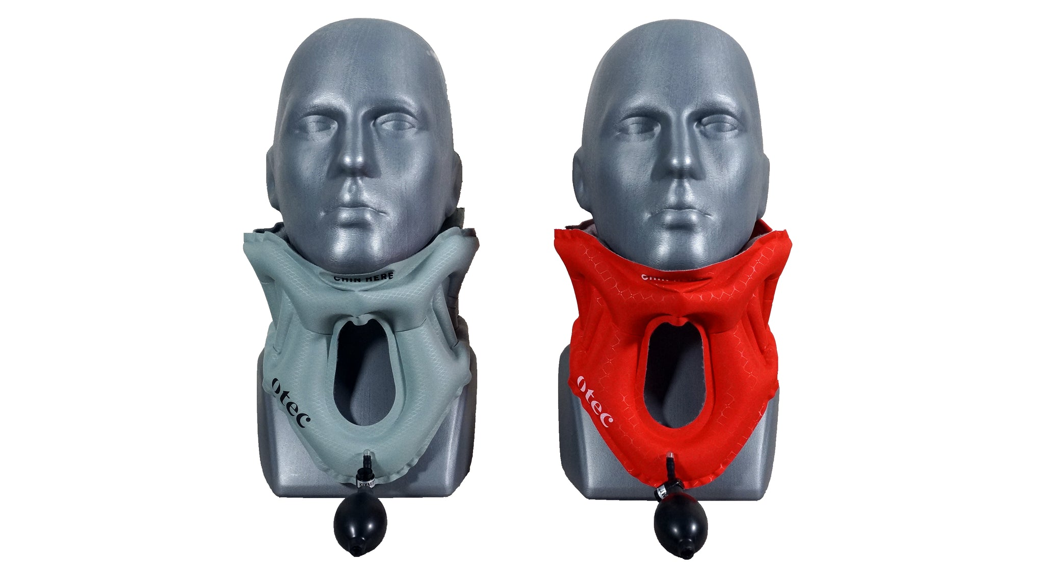 Front view of the AER Cervical Collar Inflated