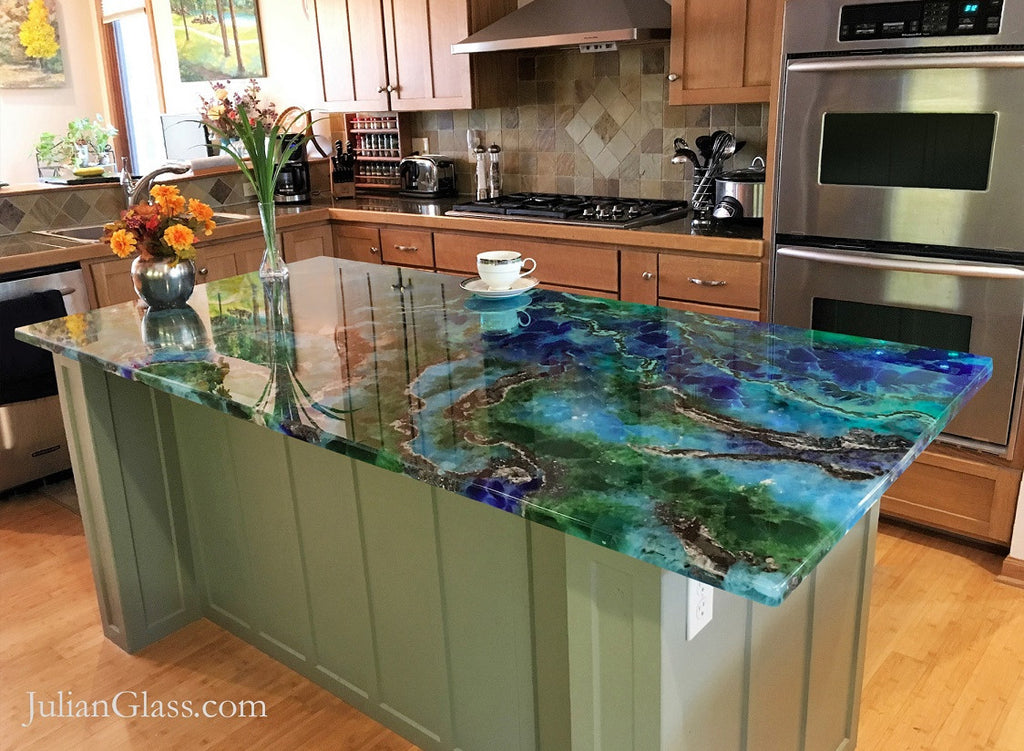 Collections julian glass for Ultraglas kitchen countertops