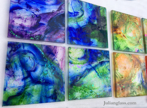 Cool Colors For Julian Glass Tiles
