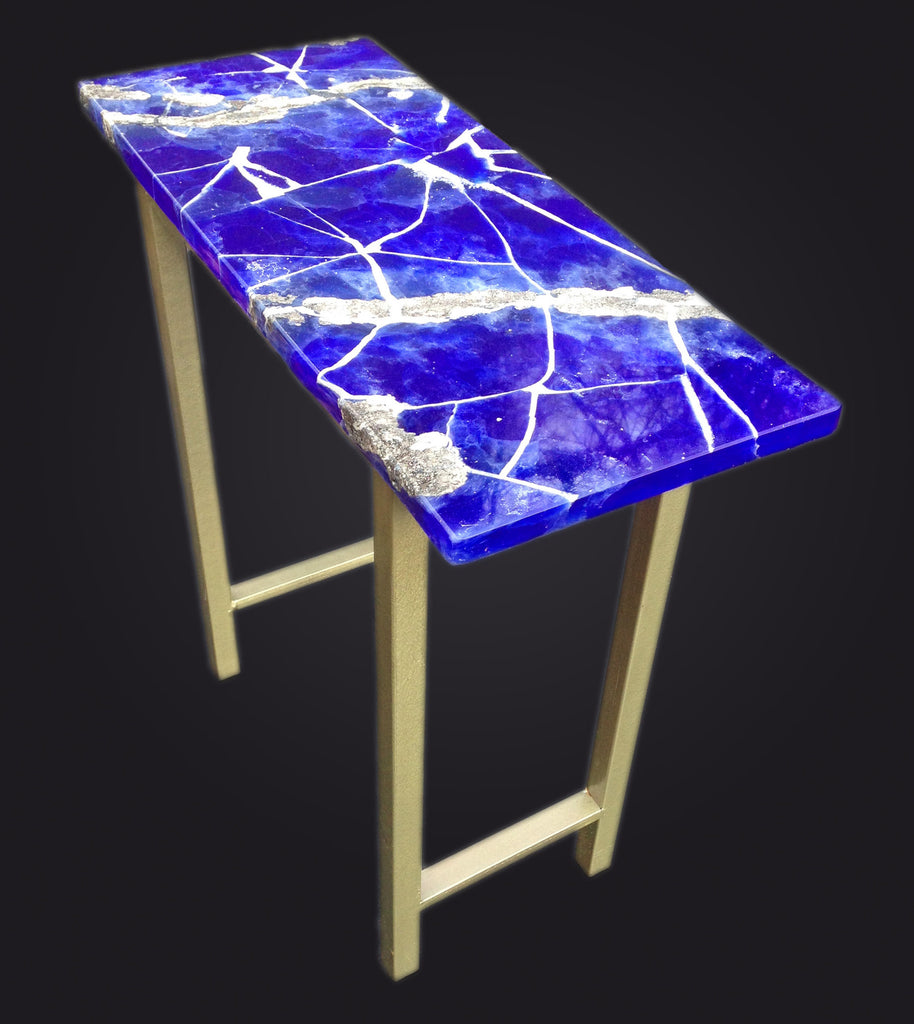 End Table with Lapis top.