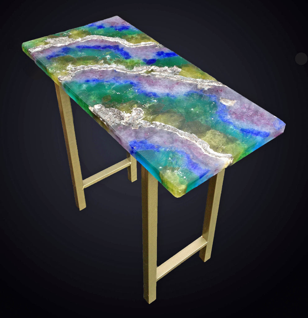 End Table with Tourmaline top.