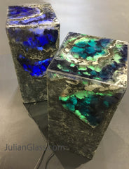 Plinth pedestals Lapis and Malachite T7,T5