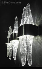 Twin Crystal Sconce