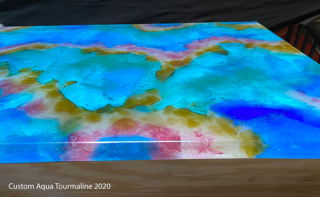 Custom Aqua Tourmaline Counter
