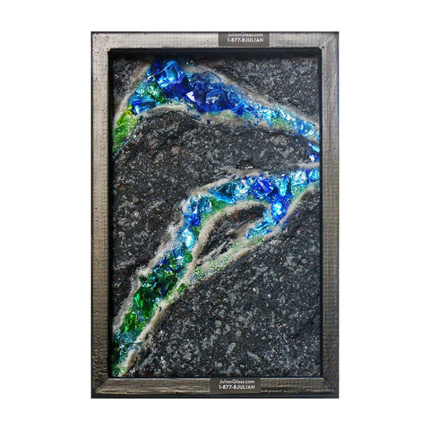 Mineral Ore glass decorative panel.
