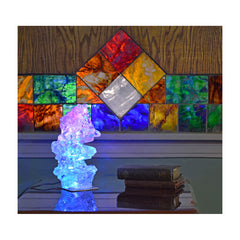 Glass Tile and Crystal Lamp