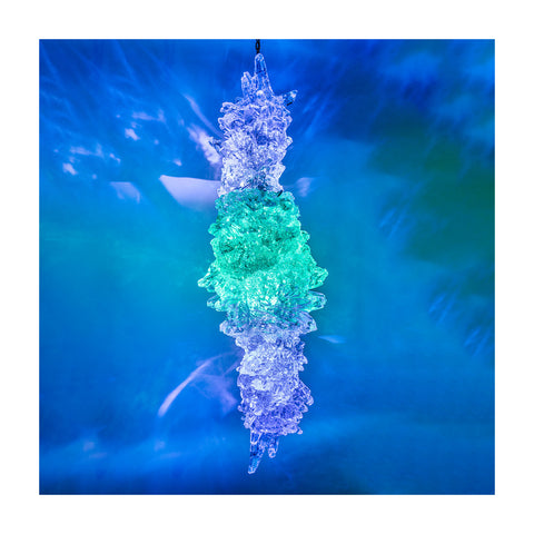 Cerulean Blue Glass Sheaf Hedron