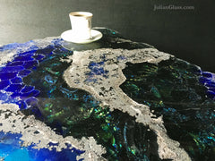 Glass Table Wild Opal