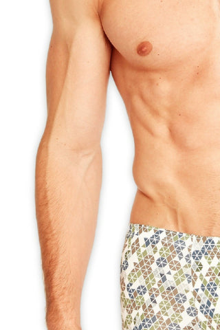 Tani USA Mens Underwear SilkCut Most Comfortable Geo Pattern Boxer Brief