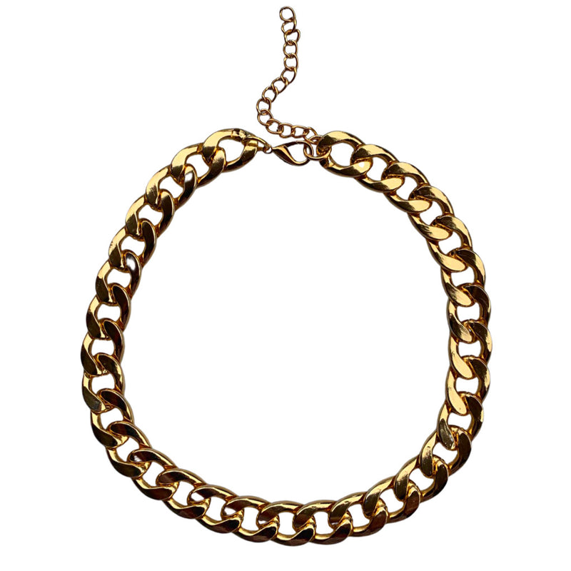 "Candela Cuban ""L"" Chain Necklace"