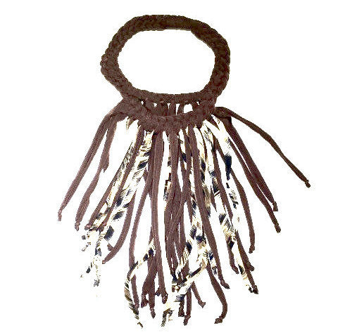 Fabric Boho Necklace (fringe)