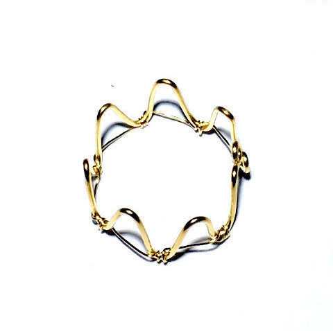 Princess Crown Wire Adjustable Ring