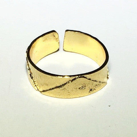 Above Textured Wide Knuckle Ring