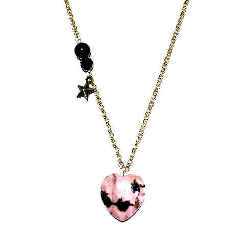 Rhodonite Long Pendant Necklace
