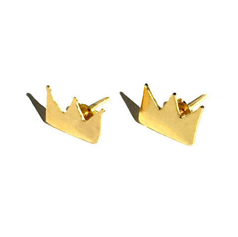 Small Crown Stud Earrings
