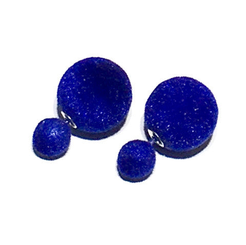 Velvet Candy Color Double Sided Earring