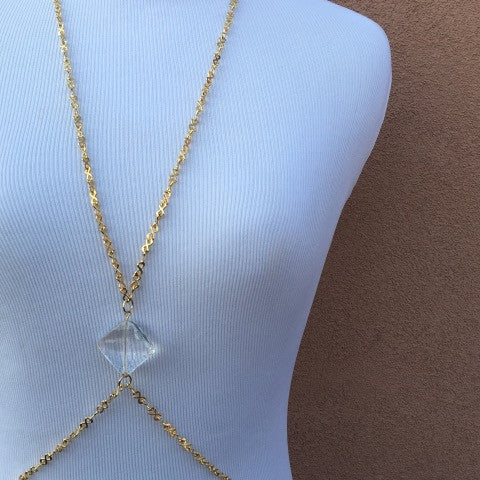 Czech Crystal Gold Body Chain