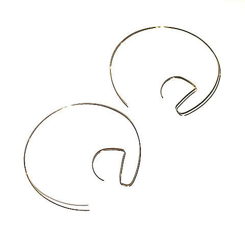 @ Thin Gold Wire Hoops